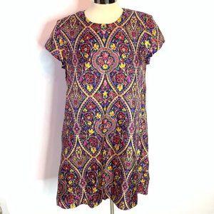 J. McLaughlin silk paisley dress w pockets
